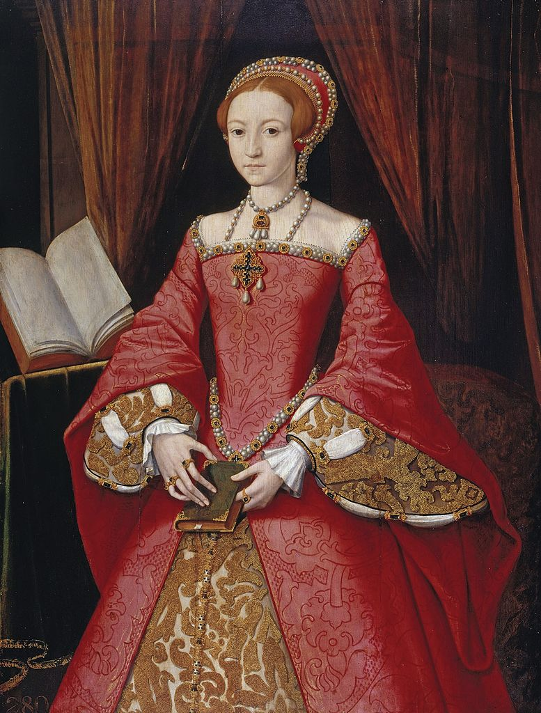 Elizabeth I aged around 13 by William Scrots
