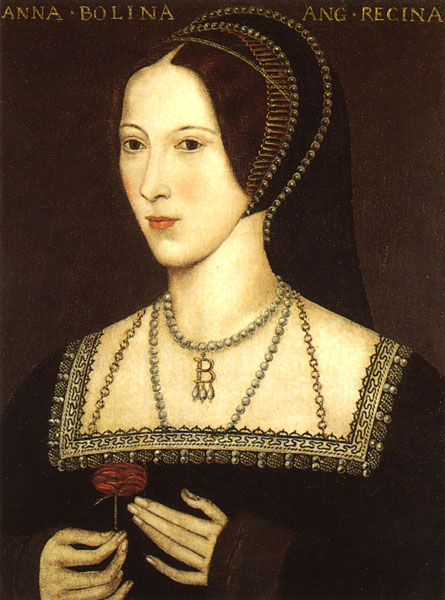 Anne Boleyn - portrait on display at Hever Castle