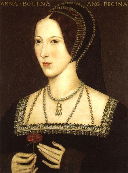 Anne Boleyn - portrait on display at Hever Castle