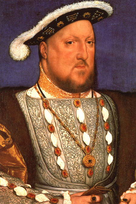 Bust portrait of Henry VIII by Hans Holbein, c.1536-37