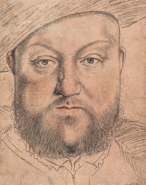 Sketch of Henry VIII by Hans Holbein