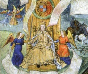 Mary I Coronation 300x252 The Coronation of Mary I
